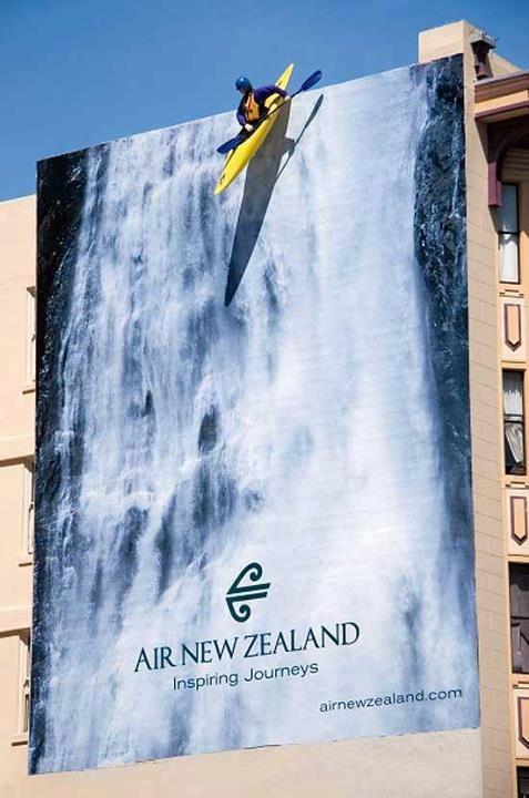 Air travel billboard