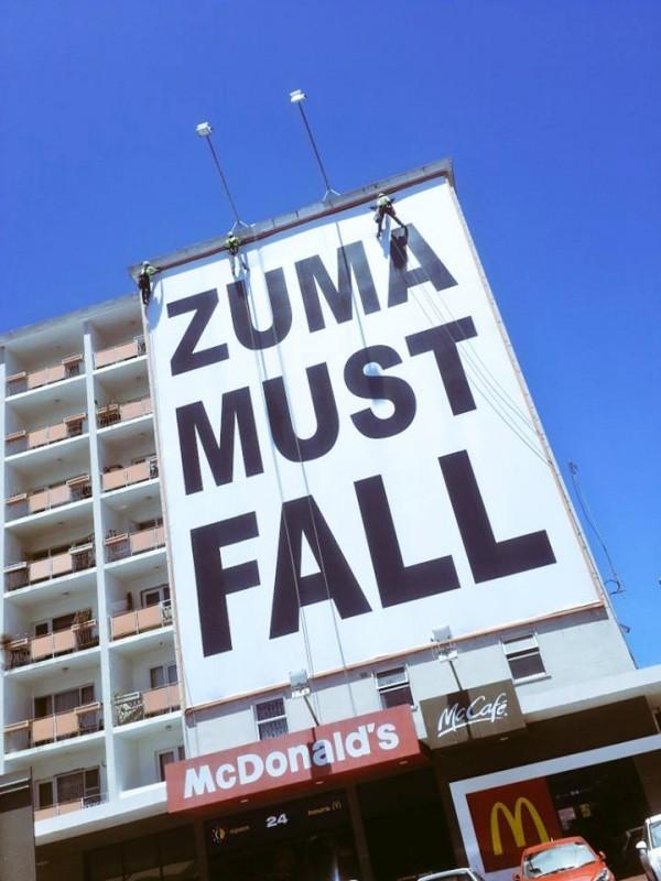 Zuma must fall billboard